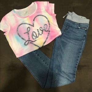 Justice Jeans & Tee